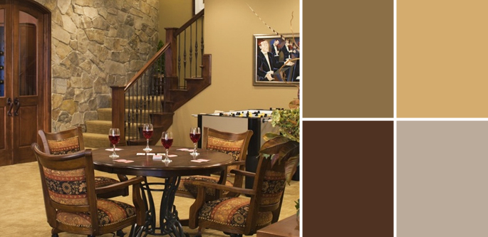 Palette Guide To Basement Paint Colors Home Tree Atlas
