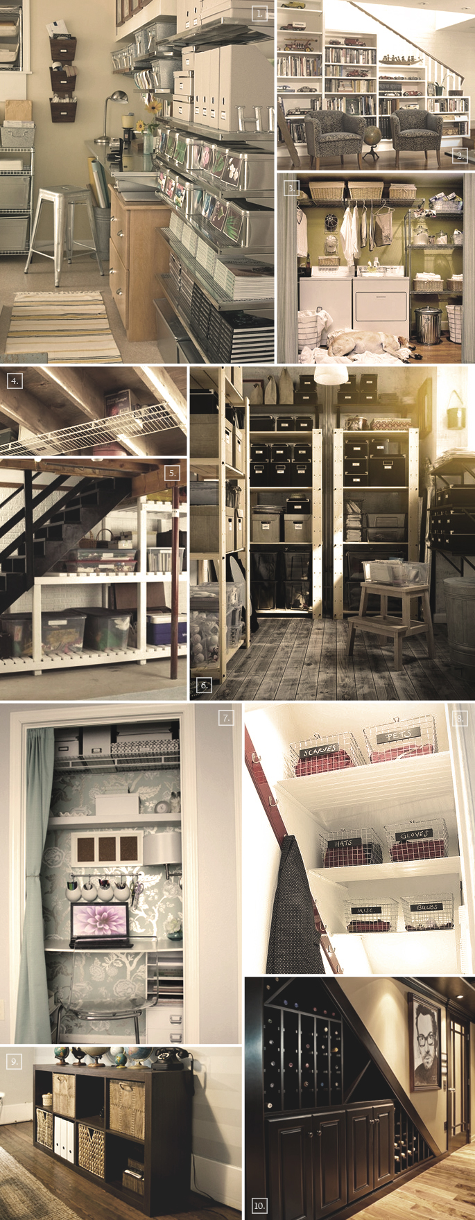 In The Basement Storage And Organization Ideas Home
