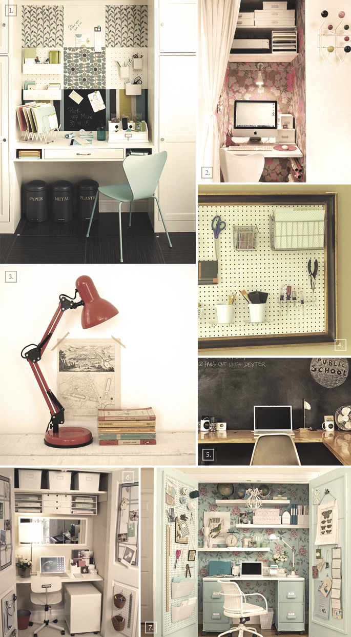Creating a workspace at home closet office ideas home tree atlas - Home office closet ideas ...