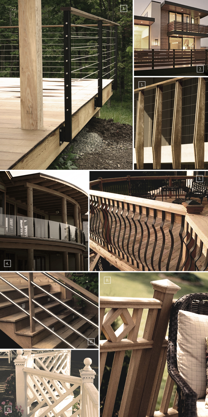 Deck covering ideas gazebo for Balcony railing designs pictures