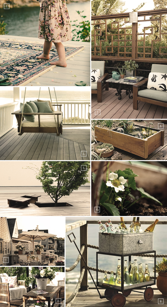 Deck Decor Ideas Mood Board | Home Tree Atlas