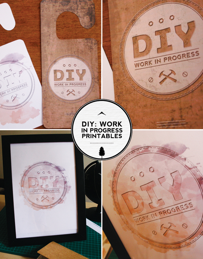 DIY Work In Progress Printable