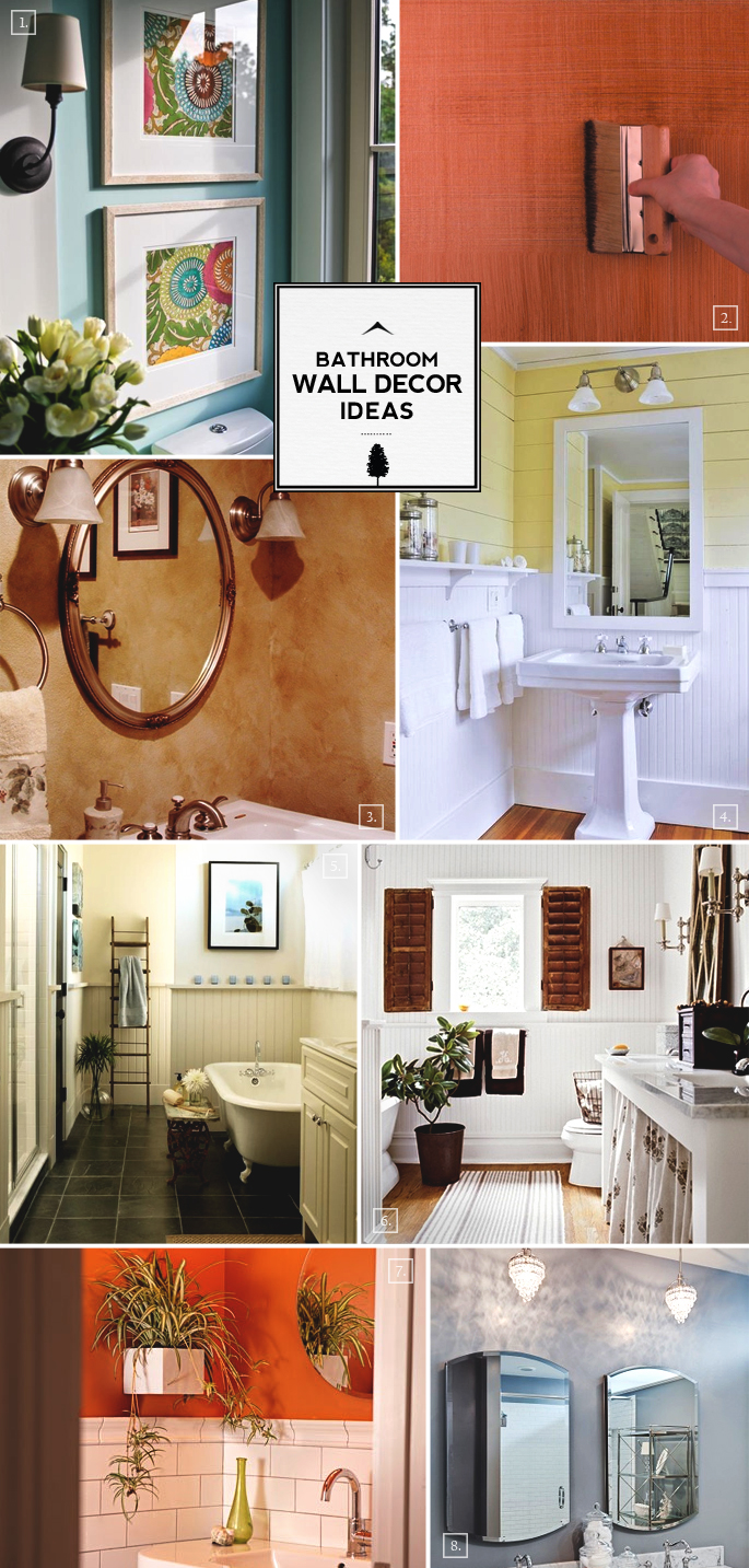 To Decorative Ideas For The Bathroom Walls There Are Simple Ideas