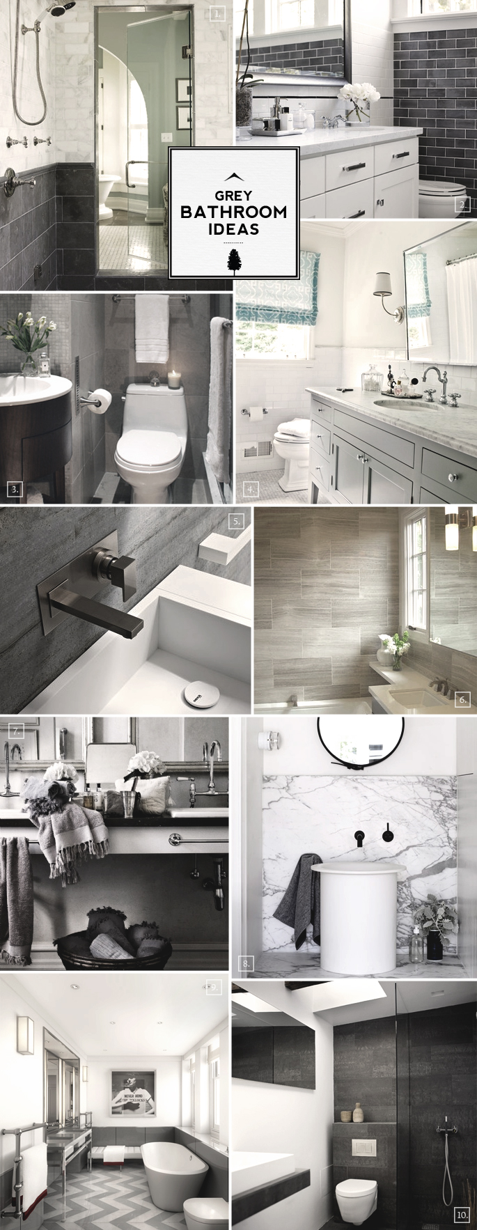 Grey Bathroom Ideas And Design Styles Home Tree Atlas
