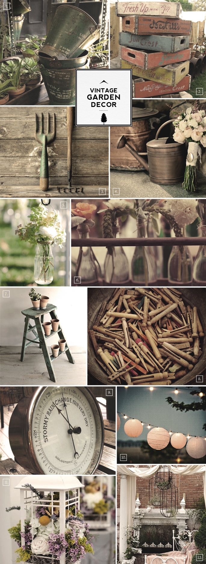 Ideas for Vintage Garden Decor and Outdoor Accessories | Home Tree