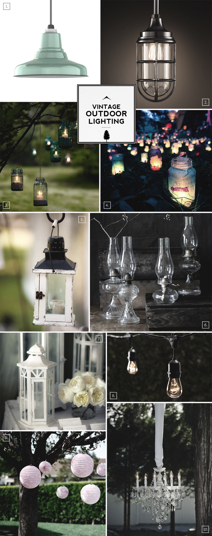 Vintage Backyard Lights : Vintage Outdoor Lighting Ideas Mood Board  Home Tree Atlas