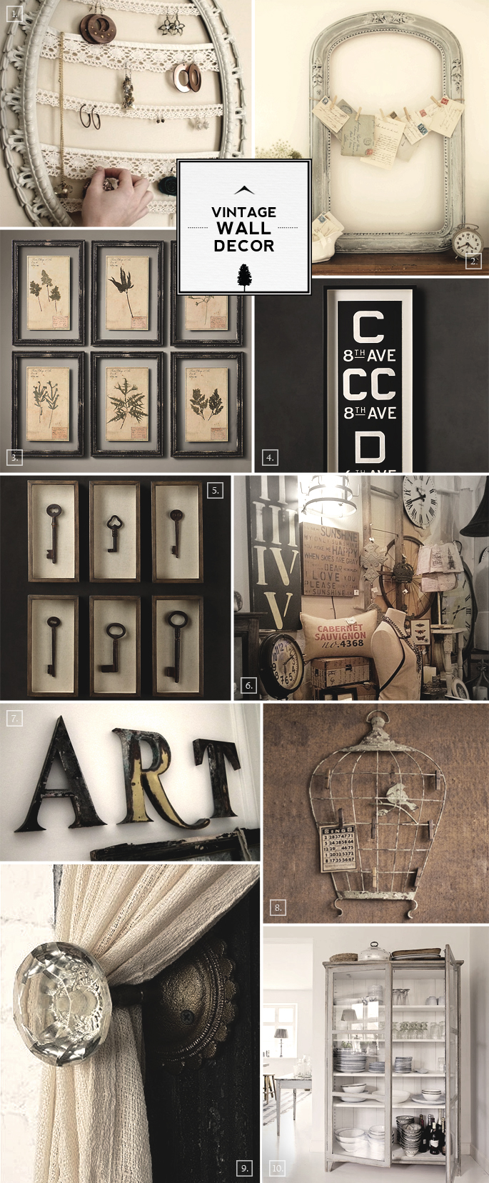 Vintage Wall Decoration Ideas : Vintage wall decor ideas from bird cages to designing