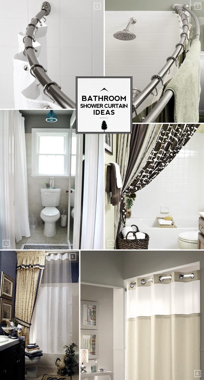 Bathroom Curtain Ideas Pictures : Bathroom shower curtain ideas from space saving to