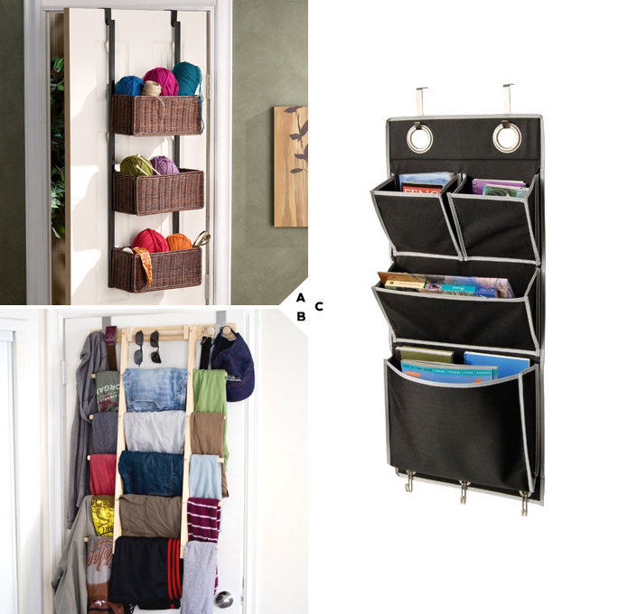 Bedroom Door Storage